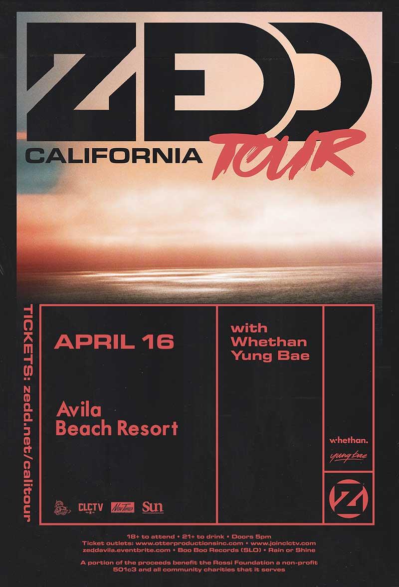 Zedd Concert in Avila Beach