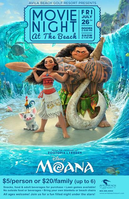 Moana: Movie Night at the Beach